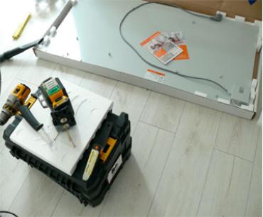 Керамический обогреватель ТСМ RA 1000 установка в коттеджном городке (Польша)