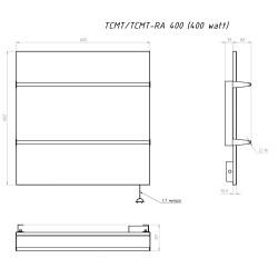 Керамический полотенцесушитель ТСМТ-RA 400